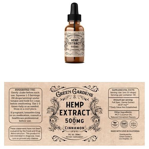 Hemp Oil Tincture Label