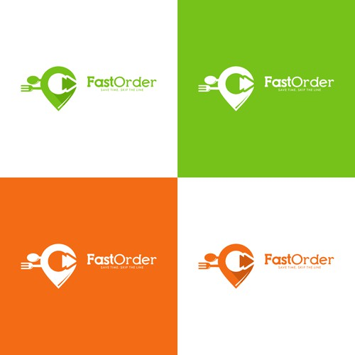 bold and catchy logo for food delivery