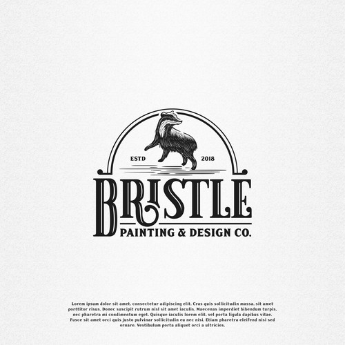 Vintage Logo Design Proposal for Painting Company