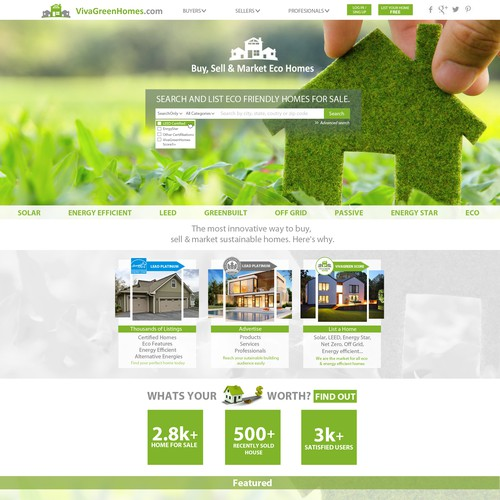site design for home selling company