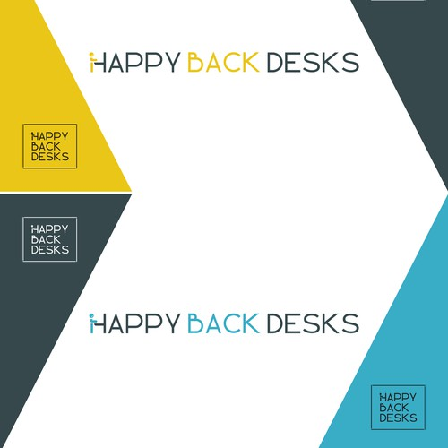 Happy Back Desks Logo Design