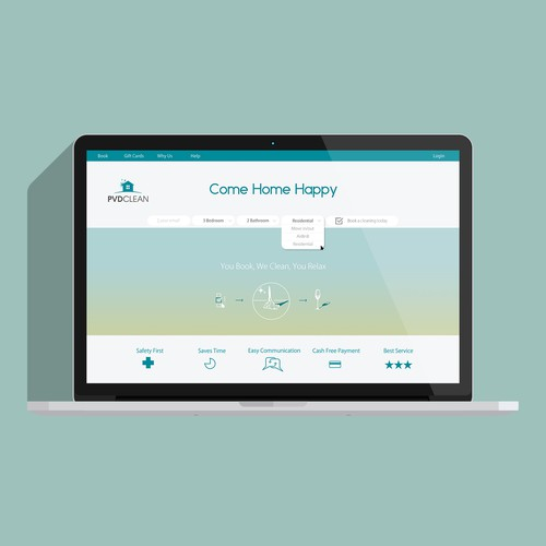 Cleaning Company Website Landing Page