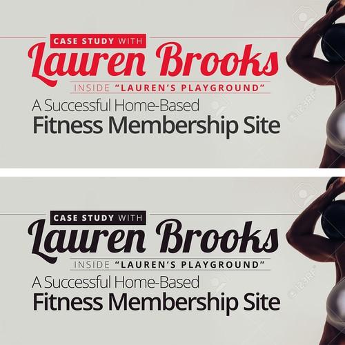Banner Ad Design for Lauren Brooks