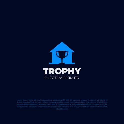 Trophy custom homes logo