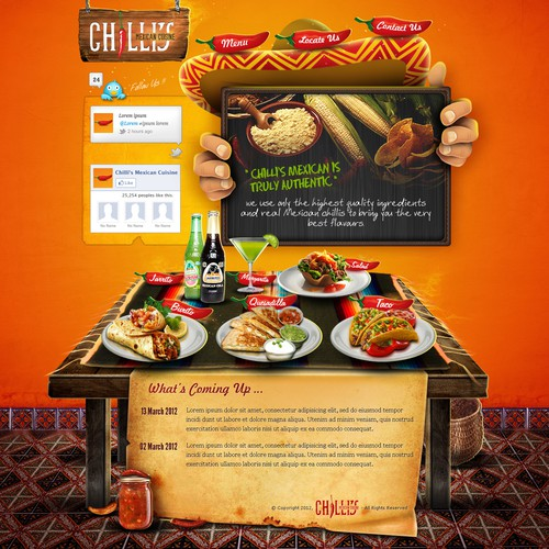 1 page design for this popular Mexican food business!