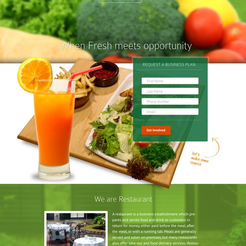 Landing page for Organic Mile