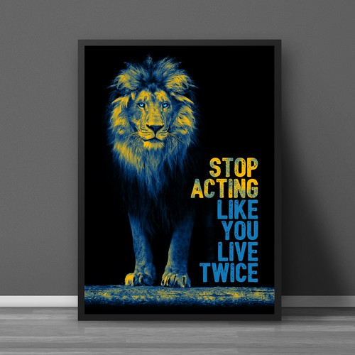 Entrepenuer Lion Poster for Online Sales