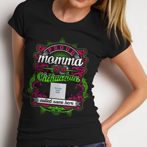 Design A Personalised Chihuahua Mom T-Shirt