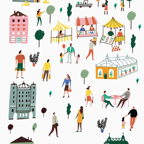 Urban life illustration