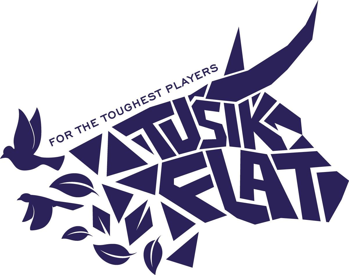 Tusik Flat Badge style logo