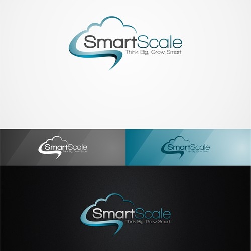 Create a logo and business card for SmartScale using a subtle indication to Cloud