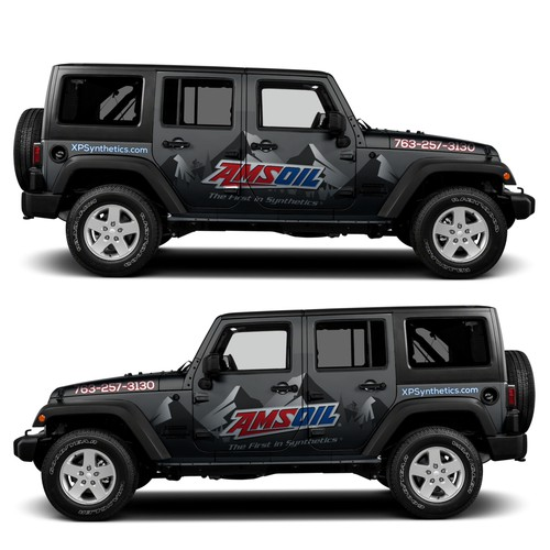 Jeep Wrangler JKU Wrap Design