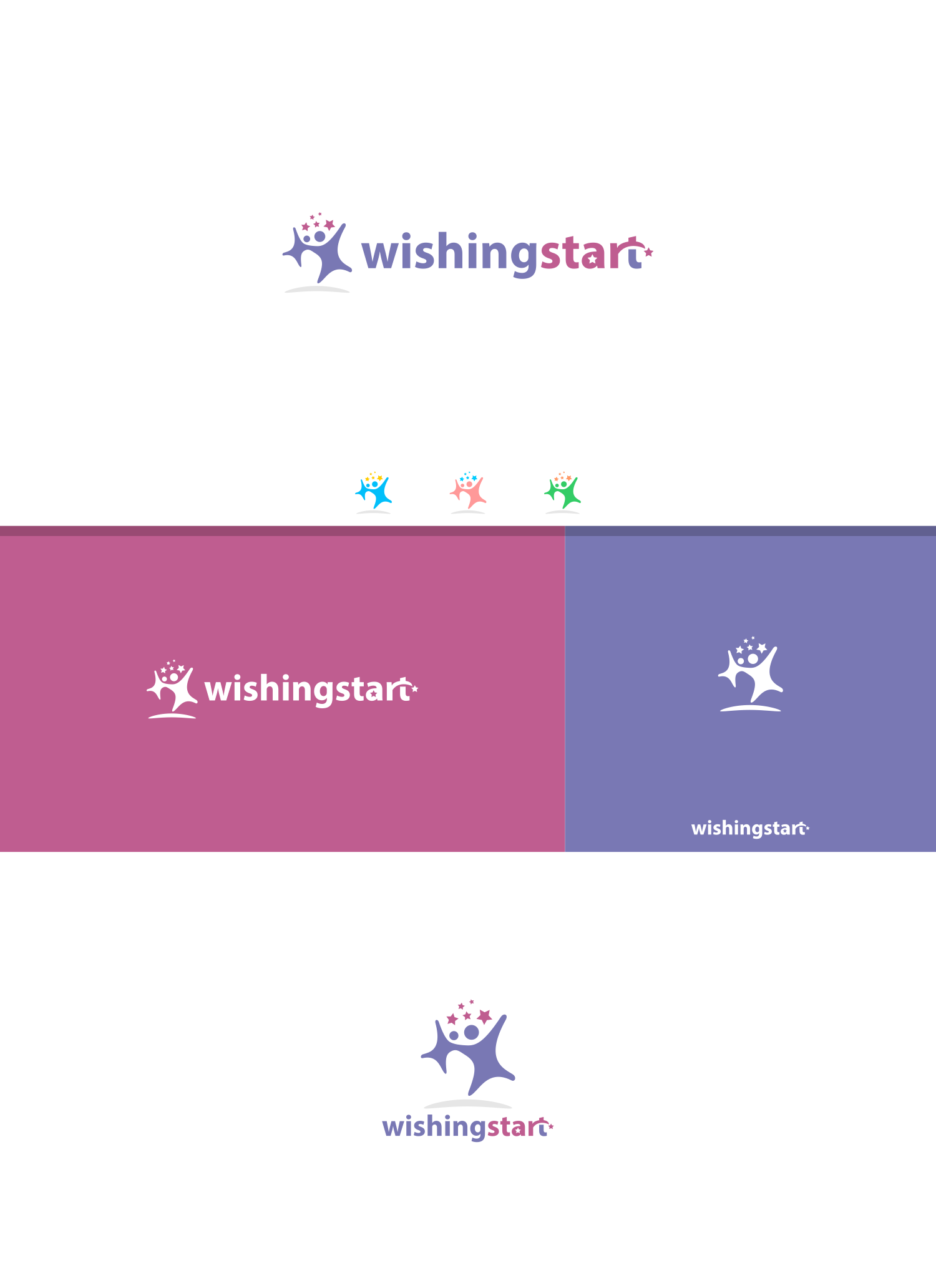 Create the next logo and business card for Wishingstart Business