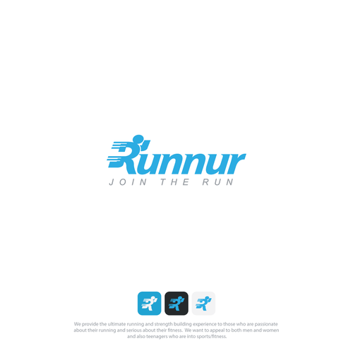 Logo concept for runnur
