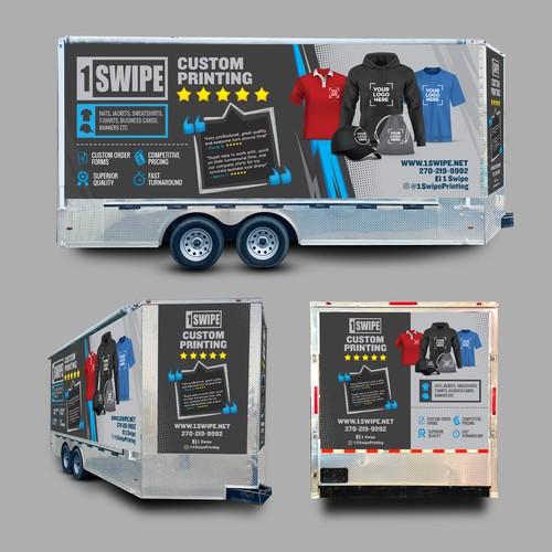 Trailer wrap for Custom Printing Company