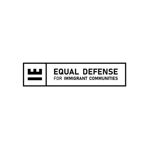 Equal Sign + Fortress for Equal Defense Logo Concept