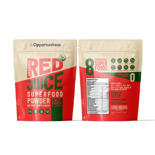 Red Juice Supplement Pouch