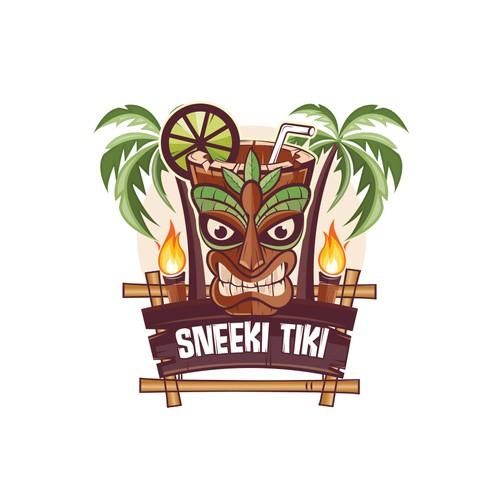 This mascot logo design for a tiki restaurant & bar.