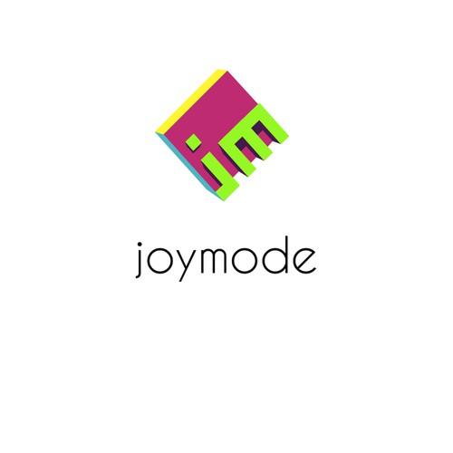 """Trendy logo for """"joymode""""."""