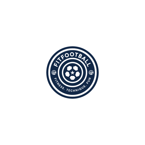 Bold flat logo design for Fitfootball company