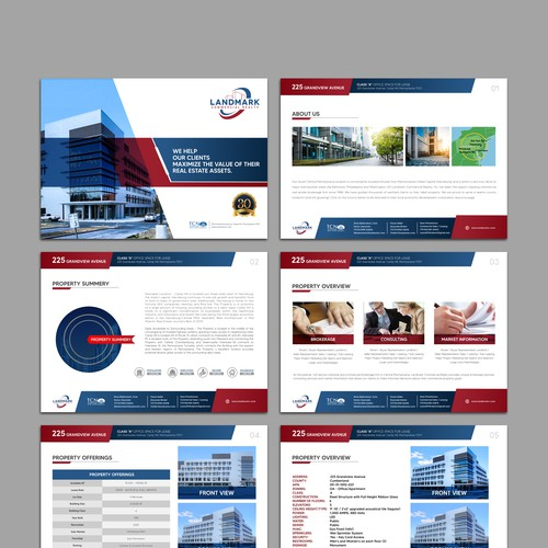 Unique, Modern Commercial Property Brochure Powerpoint Template