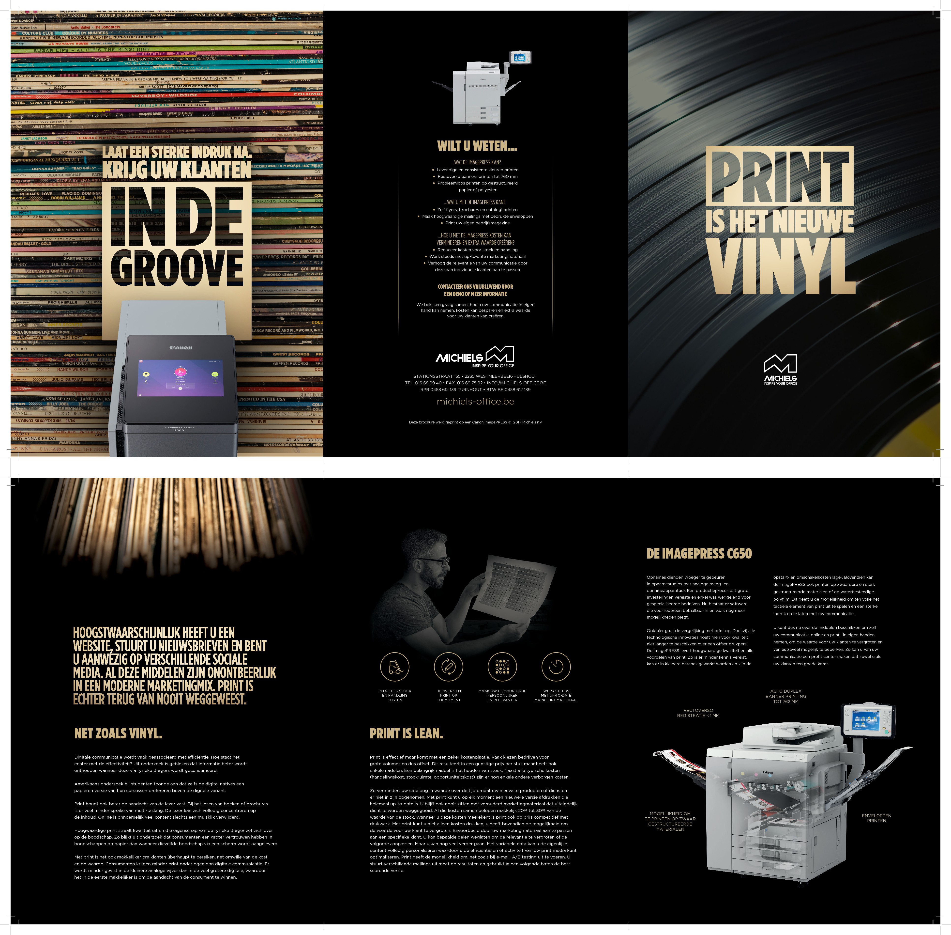 We believe in the impact of print media! Help us to convince our customers as well! Op