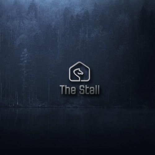 home and horse logo concept
