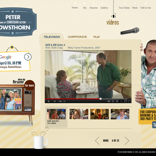 Create the next website design for PETER ROWSTHORN