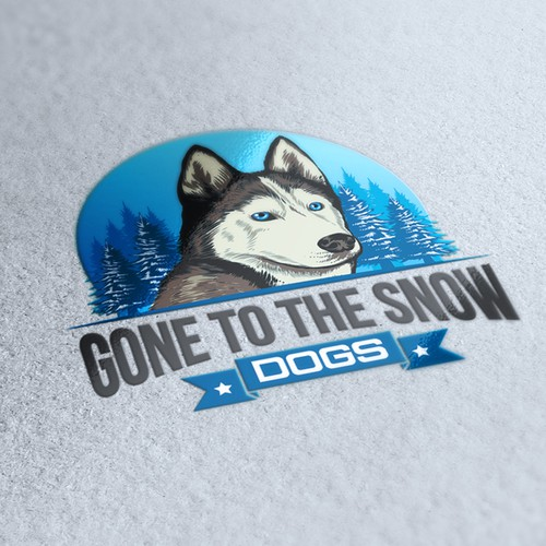 Gone to the snow dog logo
