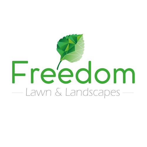 Earthy logo for Freedom Lawn & Landscapes
