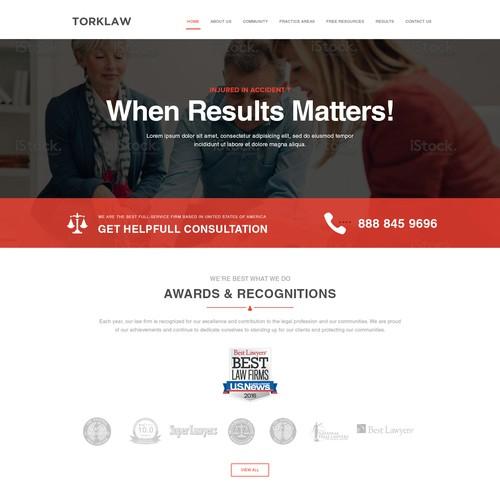 Web design for a law company