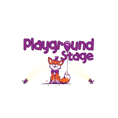 Character logo design for children theatre