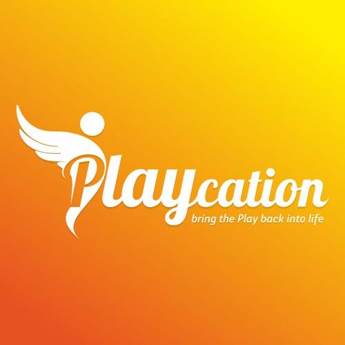 Playcation logo design