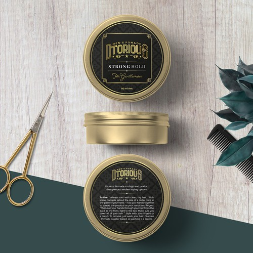 Design of a unique hair label for men's pomade