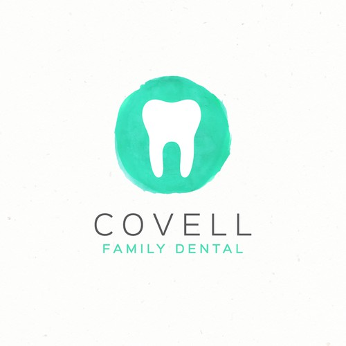 Clean, modern, natural, and organic logo for a family dentist.