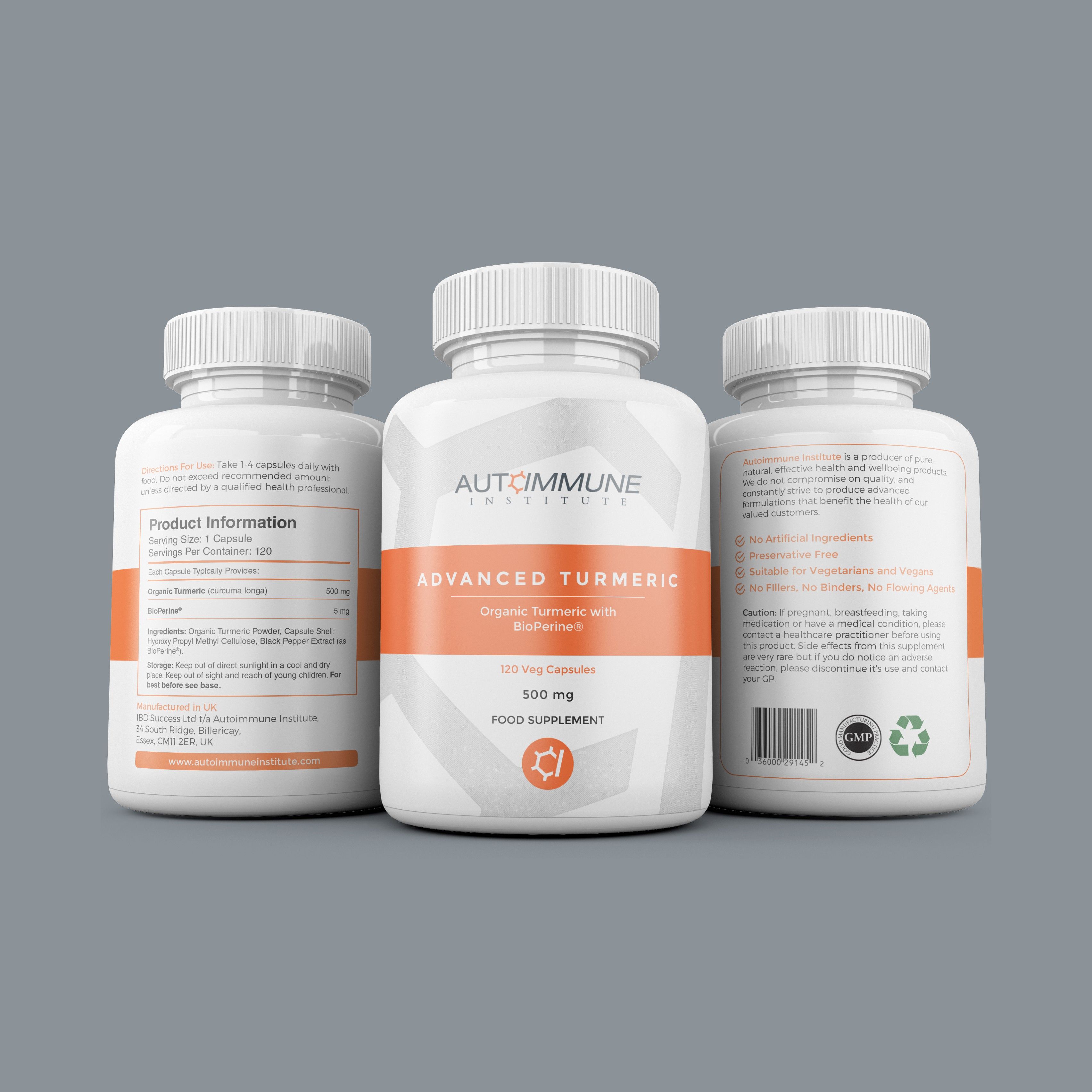 Clean, modern supplement label for new health brand