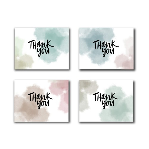 Simple Thank You Card Design - contest submission