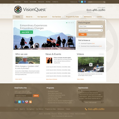 VisionQuest needs a new website design