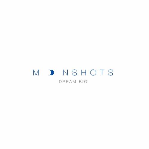 a simple smart logo for Moonshots
