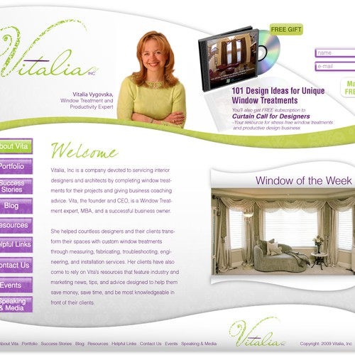 INTERIOR DESIGNER NEEDS NEW HOME PAGE