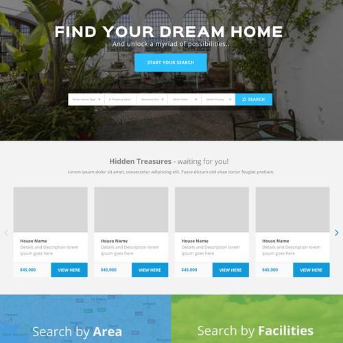 Website design for real estate company