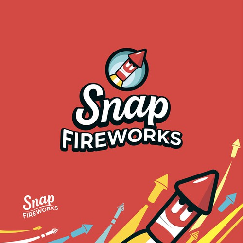 Exciting logo design for Snap Fireworks