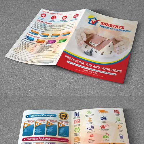 Bi-Fold Brochue for Sunstate Property Compliance