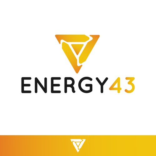 Gold logo concept for Energy company