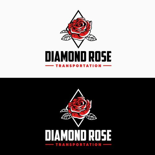 Diamond Rose Logo Design