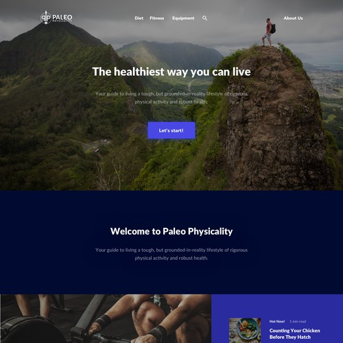 Paleo Physicality Website Design Concept