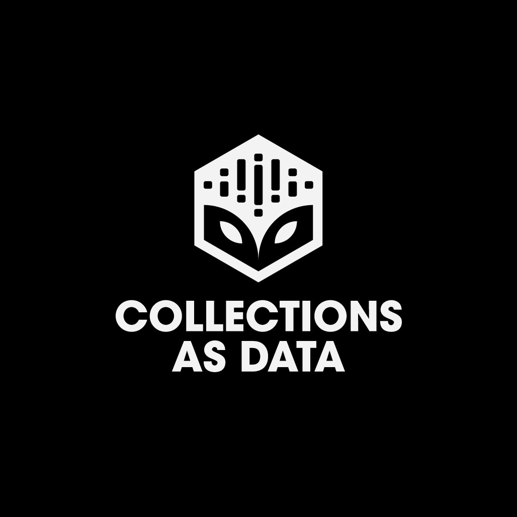 Logo that encourages responsible, computational use of library, archive, and museum collections