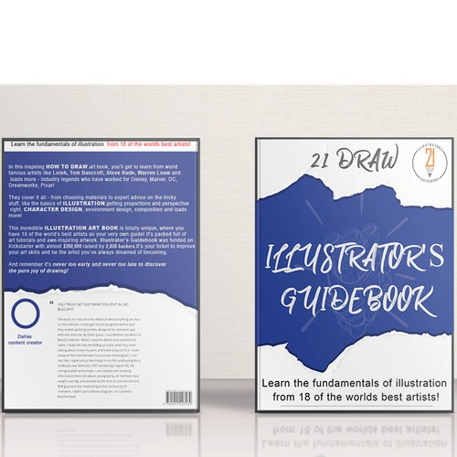Book concept for an illustration book by 21 designs