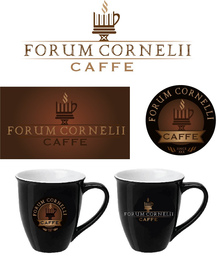 Hcaffe caffe FORUM CORNELII  with a new logo winner guaranteed