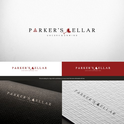 Logo concept design for winery